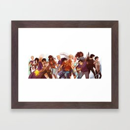 heroes of olympus Framed Art Print