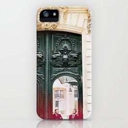 Green Doors In Paris iPhone Case