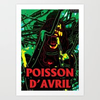 Poisson d'Avril Art Print