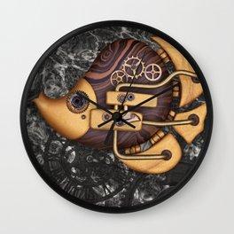 Steampunk Butterflyfish Wall Clock