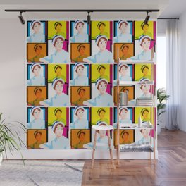 JANE AUSTEN - ENGLISH NOVELIST - COLOURFUL POP ART STYLE ILLUST Wall Mural