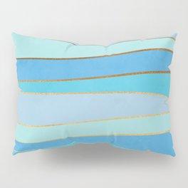 Waves Pattern - Golden Glitter Pillow Sham