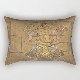 Wat Pho Thai Massage Accupressure Illustration Rectangular Pillow