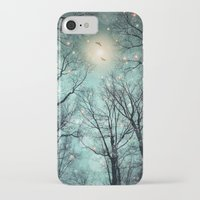 mint iPhone & iPod Cases featuring Nature Blazes Before Your Eyes (Mint Embers) by soaring anchor designs