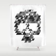 Skull bw w Shower Curtain