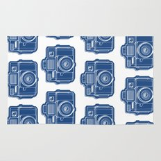 I Still Shoot Film Holga Logo - Blue Rug