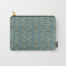 Eucalyptus Patterns with Aqua Background Realistic Botanic Patterns Organic & Striped Patterns Carry-All Pouch