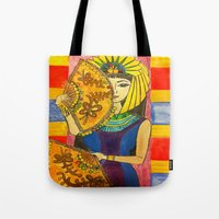 egyptian Tote Bags featuring Egyptian by DaeChristine