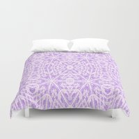 floral pattern Duvet Covers featuring Lavender Floral Pattern by 2sweet4words Designs