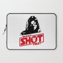 Winter Soldier- Bucky Shot First Laptop Sleeve