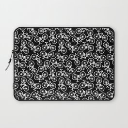 Bicycles Doodle on Black Laptop Sleeve