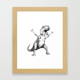 Unstoppable T-Rex  Framed Art Print