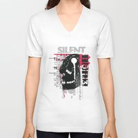 silent V-neck T-shirts featuring Silent by Tshirt-Factory