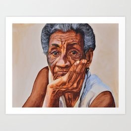 Cuban Abuela Art Print