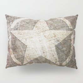 Army Star on Distressed Riveted Metal Door Pillow Sham