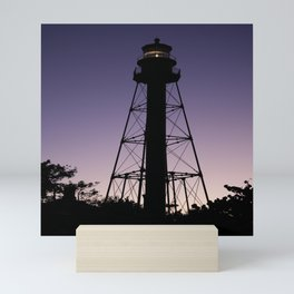 Sanibel Island Lighthouse Sunset Mini Art Print