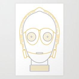 Illustration to line. c3po Art Print
