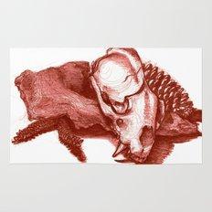 Sketchy Skull Rug