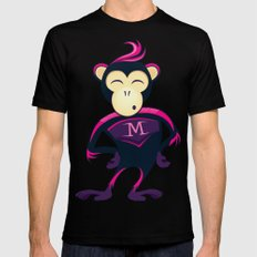 Monkey Mens Fitted Tee MEDIUM Black