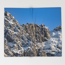 Fresh Snow-Alaskan Mountain Top Throw Blanket