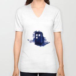 tardis dr who Unisex V-Neck