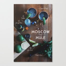 Moscow Mule Recipe Board Canvas Print