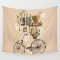 wesley bird Wall Tapestries featuring Pleasant Balance by florever