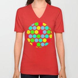 Polka dot, Colors set 3 Unisex V-Neck
