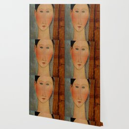 "Amedeo Modigliani ""Portrait de femme (Woman's portrait)"", 1918 Wallpaper"