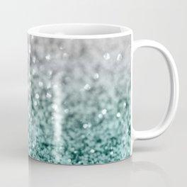 Silver Teal Ocean Glitter Glam #1 #shiny #decor #art #society6 Kaffeebecher