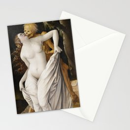 Death and the Maiden by Hans Baldung Stationery Cards