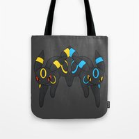 umbreon Tote Bags featuring Umbreon Duo by Kurew Kreations