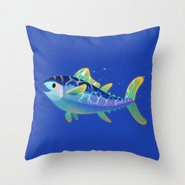 Atlantic Bluefin Tuna Throw Pillow