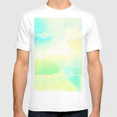 Missing Landscape MEDIUM Mens Fitted Tee White