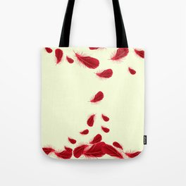 SURREAL FLOATING SCARLET RED FEATHERS Tote Bag
