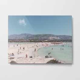 Elafonisos Beach Holidays on Crete Island in Greece Europe   Travel Photography   Coastal Photography Metal Print
