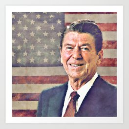 Patriot Ronald Reagan Art Print