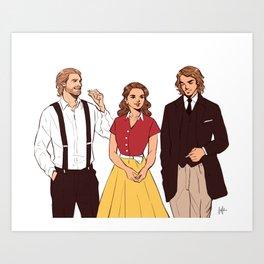 Republic Trio - 1950s Art Print