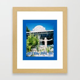 Ivan's on Jost Van Dyke, BVI- World's best honor bar! Framed Art Print