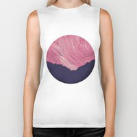 northern lights Biker Tanks featuring Northern lights 2 by Richard Seyb