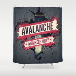 Final Fantasy VII - Avalanche Member's Only Shower Curtain