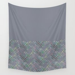 Gray combined pattern. Wall Tapestry