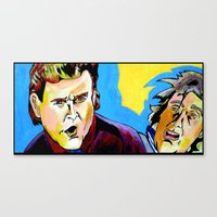 dumb and dumber Canvas Prints featuring Uncle Joey and Dumb and Dumber guy. by Paul Kobler Art