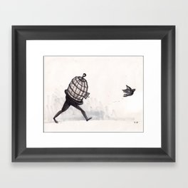 """""""I know why the caged bird...""""  Framed Art Print"""
