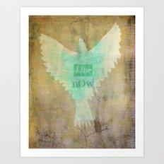 Live Know Art Print