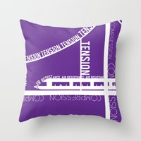physics Throw Pillows featuring Typed Force by Asif Mallik