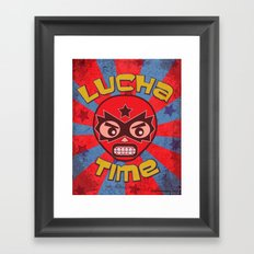 Lucha Time Framed Art Print