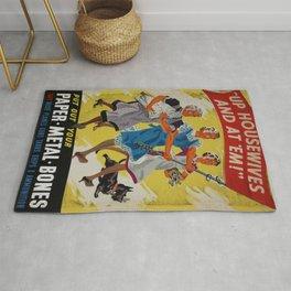 Vintage poster - Up Housewives and at'em Rug