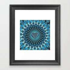 Celtic Heart Knot Fractal Mandala Framed Art Print