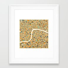 LONDON MAP Framed Art Print